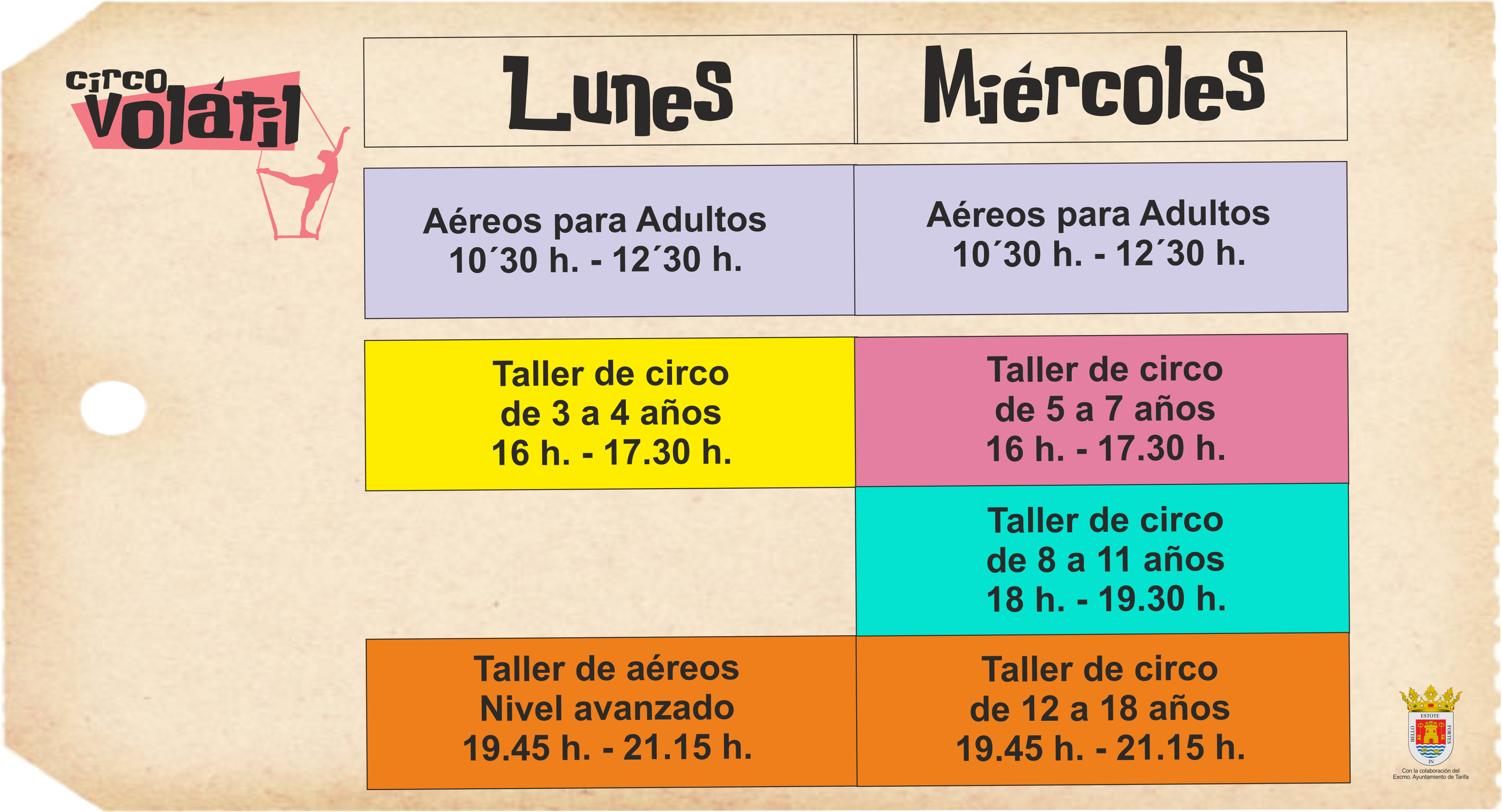 horario modificado