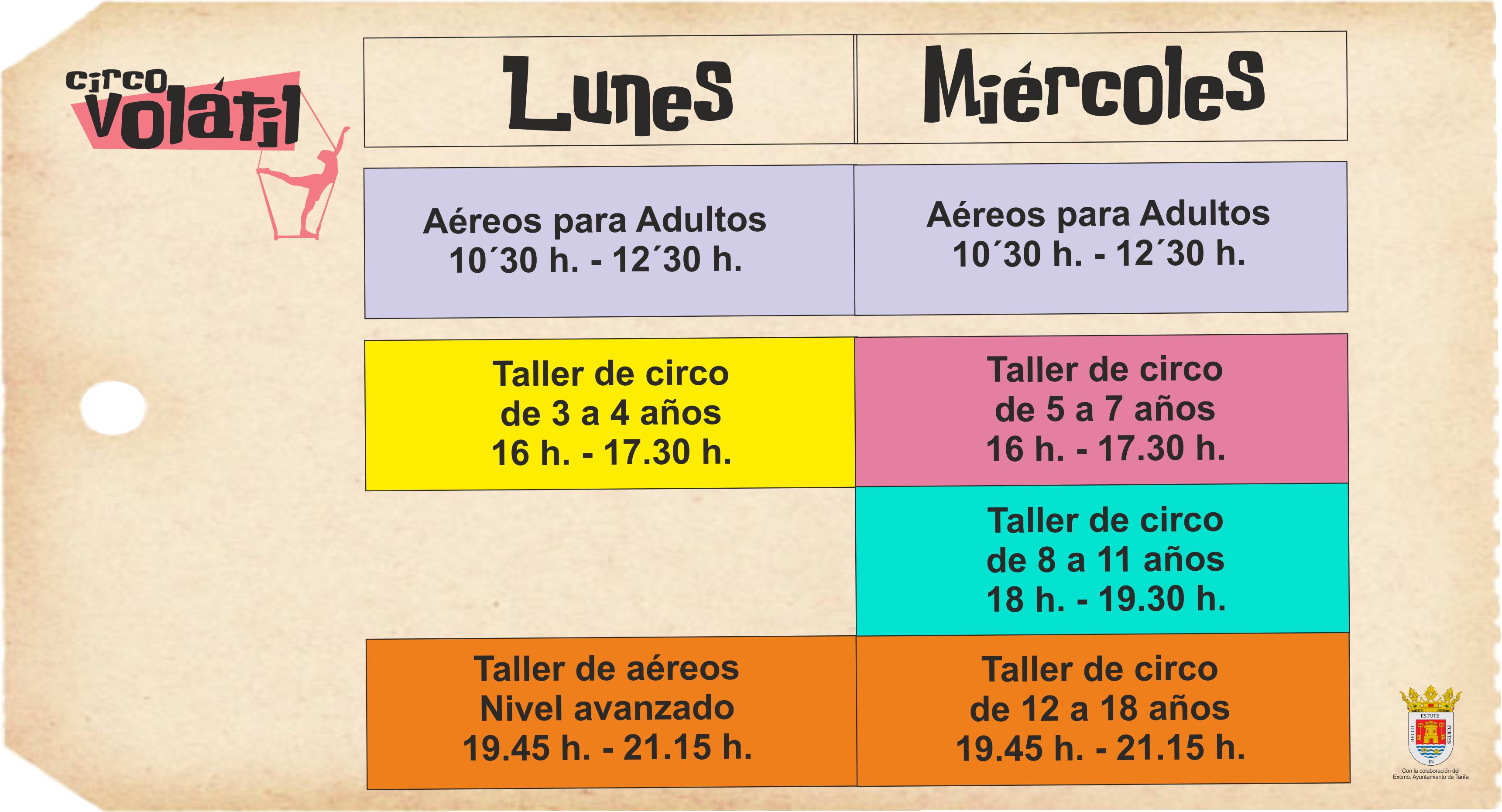 horario modificado