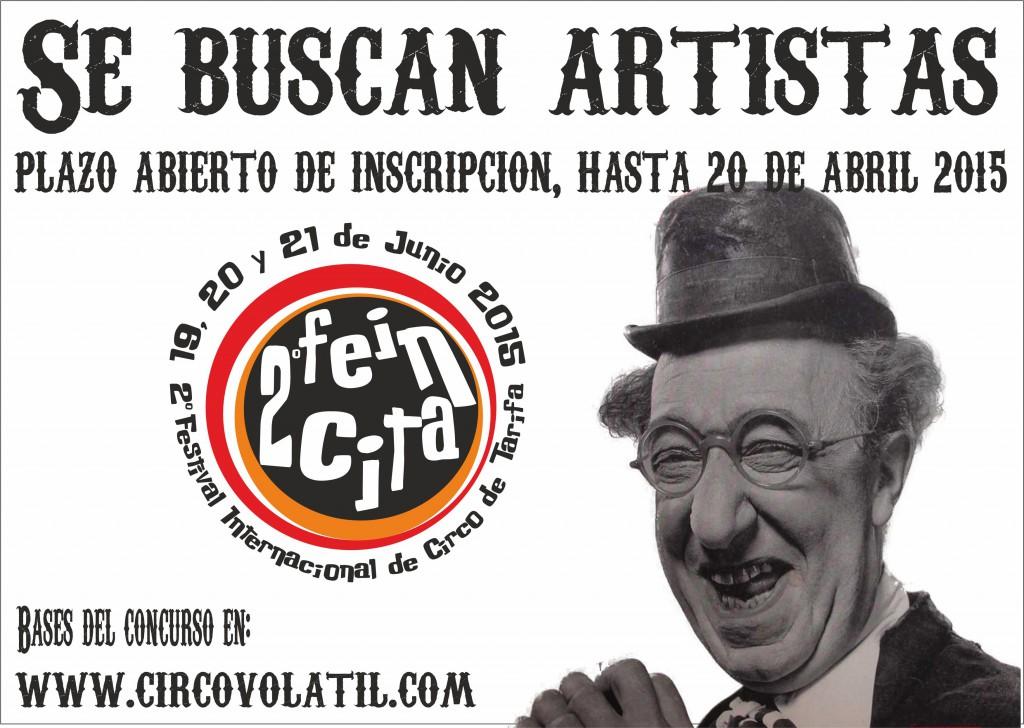 cartel se buscan artistas 2015