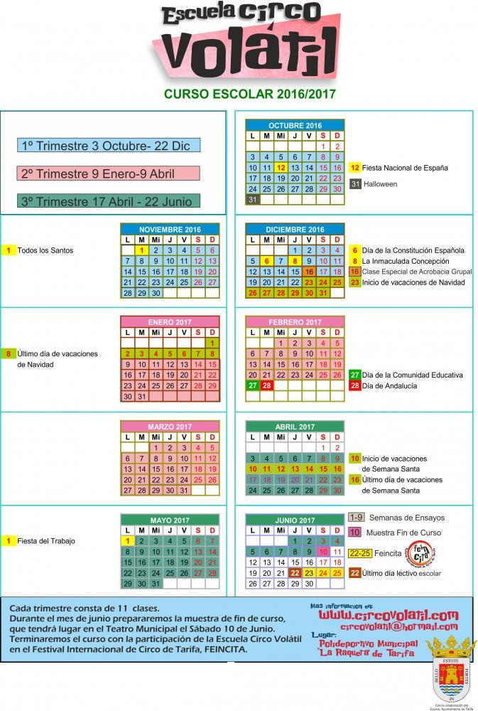 Calendario Circo Volátil